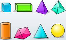 Three dimensional objects, solids, polyhedron, non-polyhedrons, irregular polyhedron, concave polyhedron, convex polyhedron, polygons, regular polygons, concave polygons, polygonal regions, Euler�s formula, face, edge, vertex, Prisms, pyramids