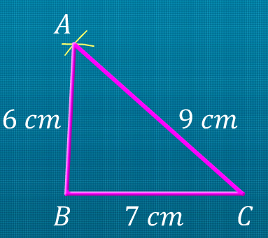 steps of construction step 1 draw line segment bc 7 cm step 2 draw an arc with b as the centre and the radius equal to 6 cm